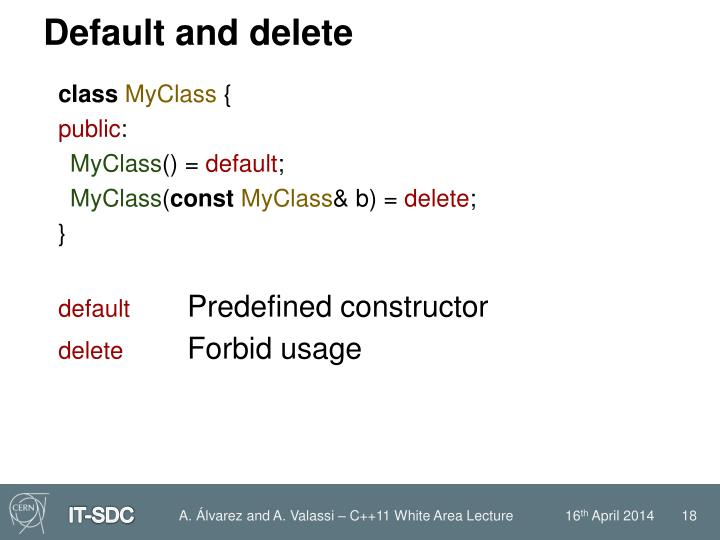 Default and delete