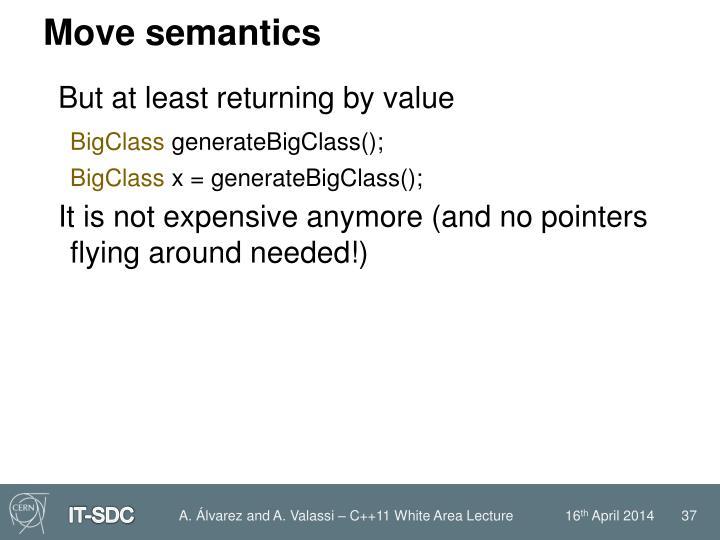 Move semantics