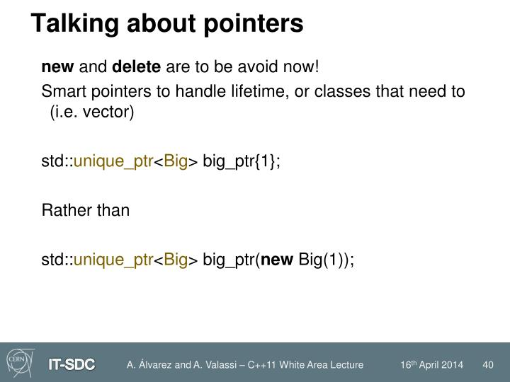 Talking about pointers