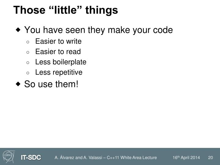 """Those """"little"""" things"""