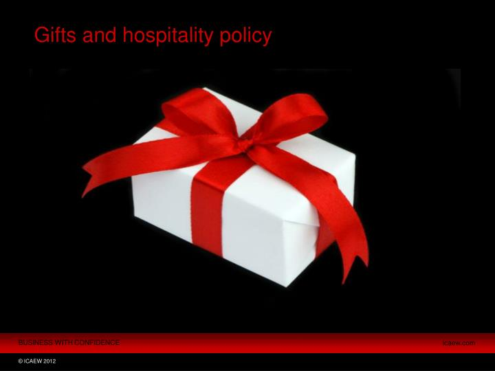 Gifts and hospitality policy