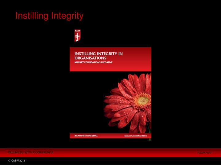 Instilling Integrity