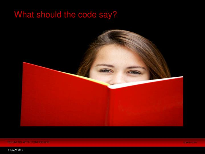 What should the code say?