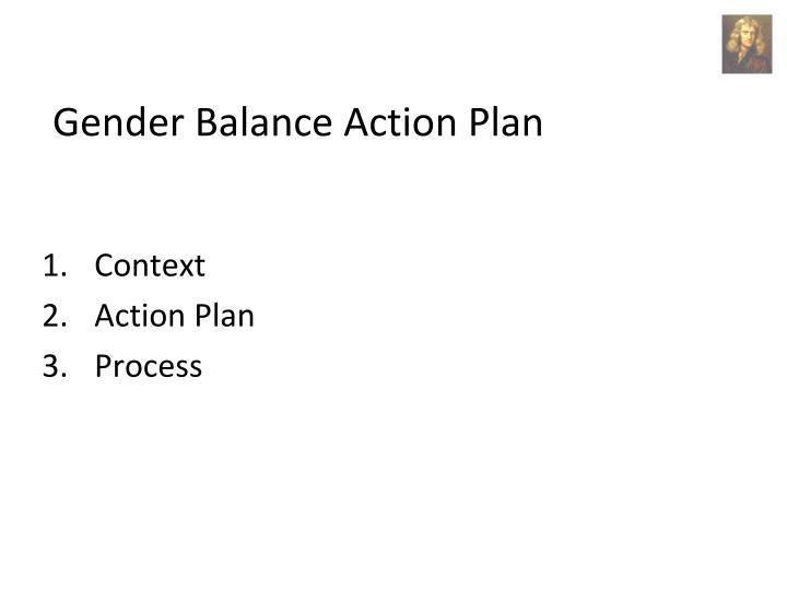 Gender Balance Action Plan