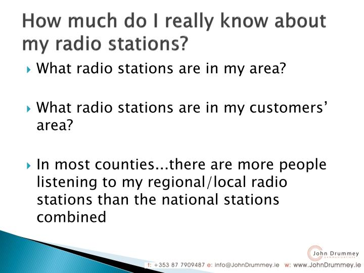 How much do I really know about my radio stations?