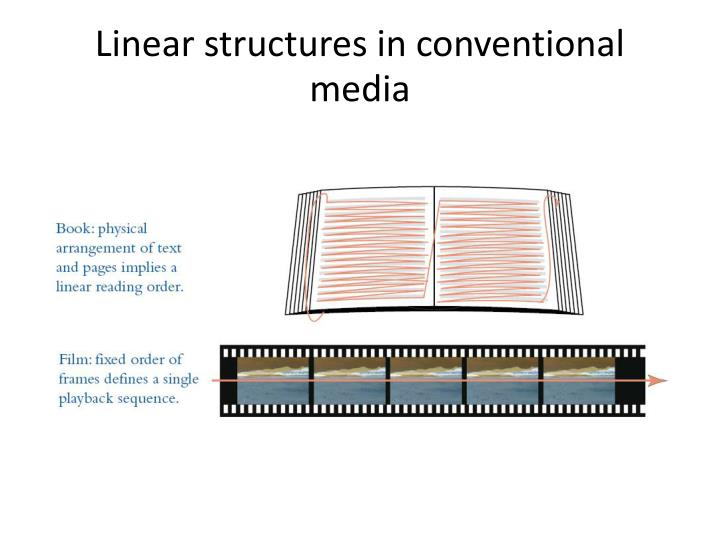 Linear structures in conventional media