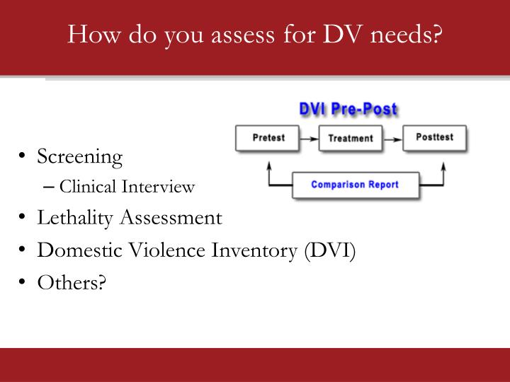 How do you assess for DV needs?