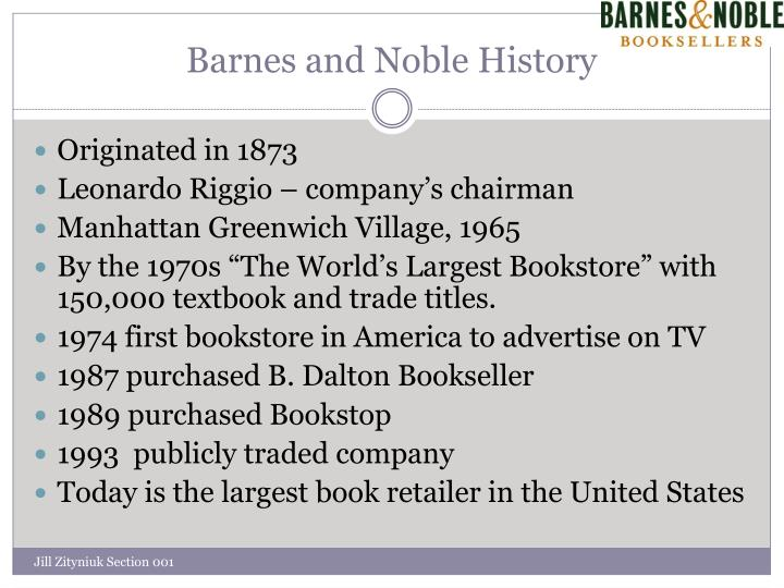 Barnes and Noble History