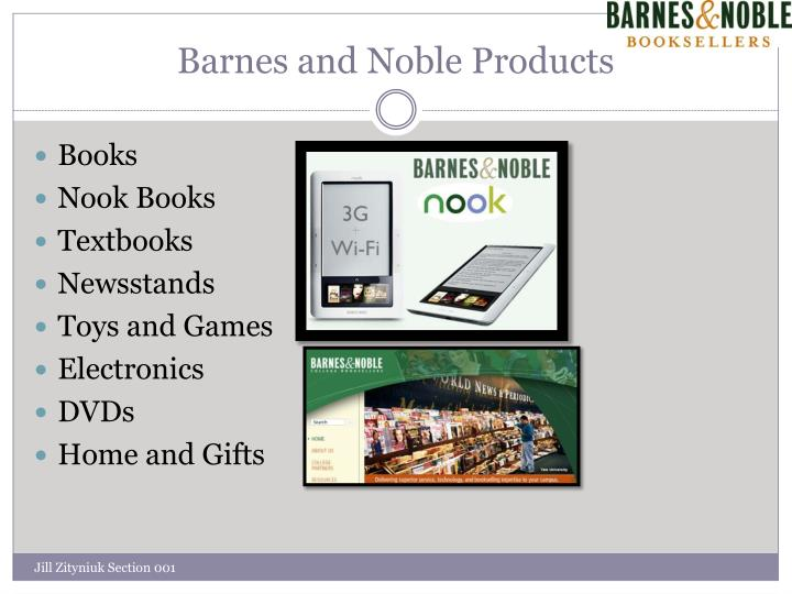 Barnes and Noble Products
