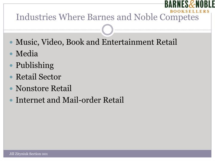 Industries Where Barnes and Noble Competes