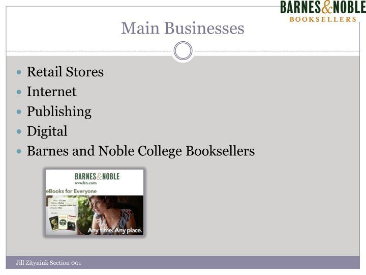 Main Businesses