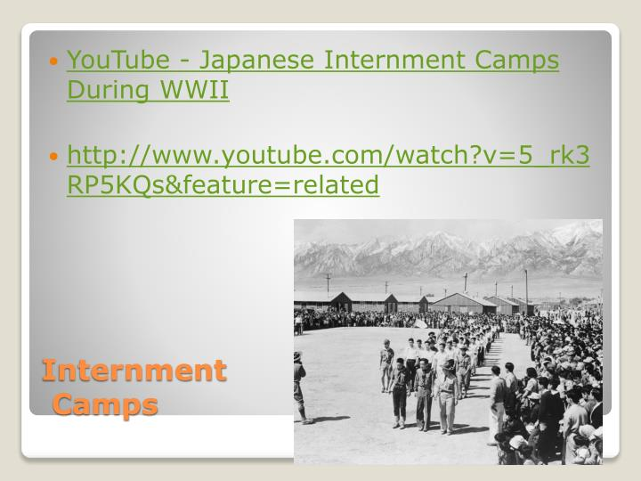 YouTube - Japanese Internment Camps During WWII