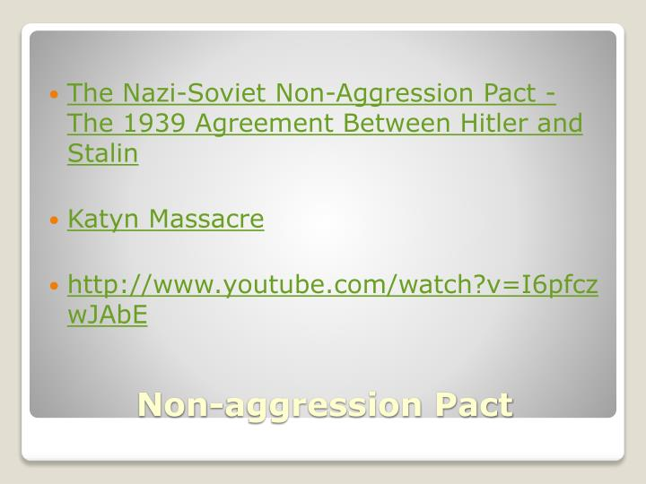 The Nazi-Soviet Non-Aggression Pact - The 1939 Agreement Between Hitler and Stalin