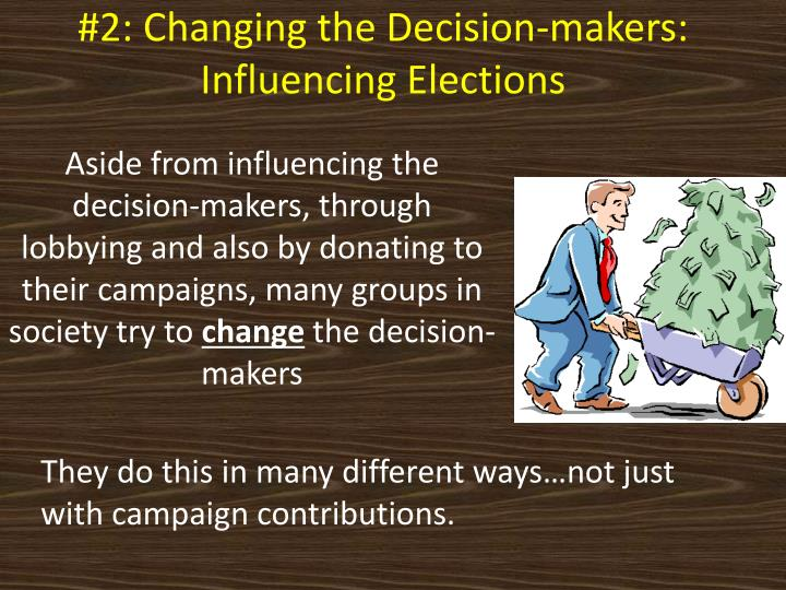 #2: Changing the Decision-makers: Influencing Elections