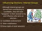 influencing elections interest groups