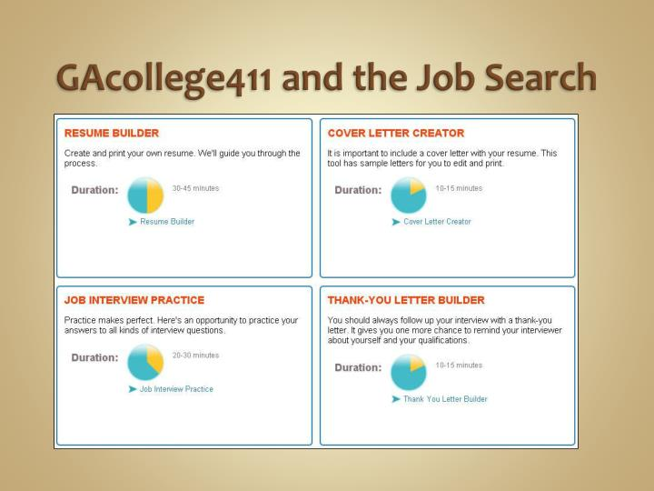 GAcollege411 and the Job Search