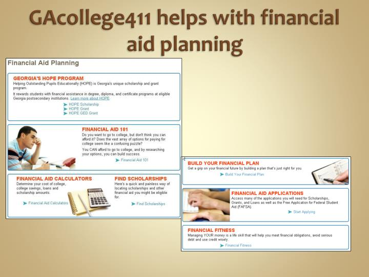 GAcollege411 helps with financial aid planning
