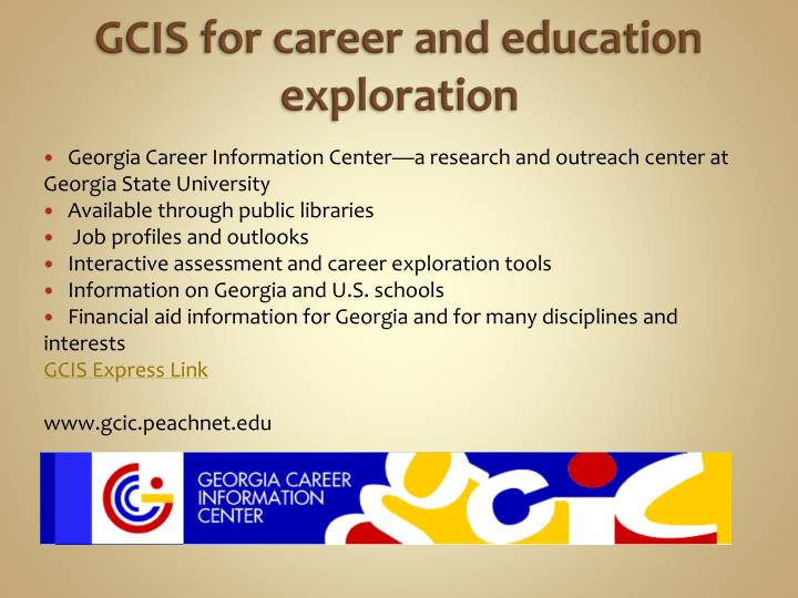 GCIS for career and education exploration