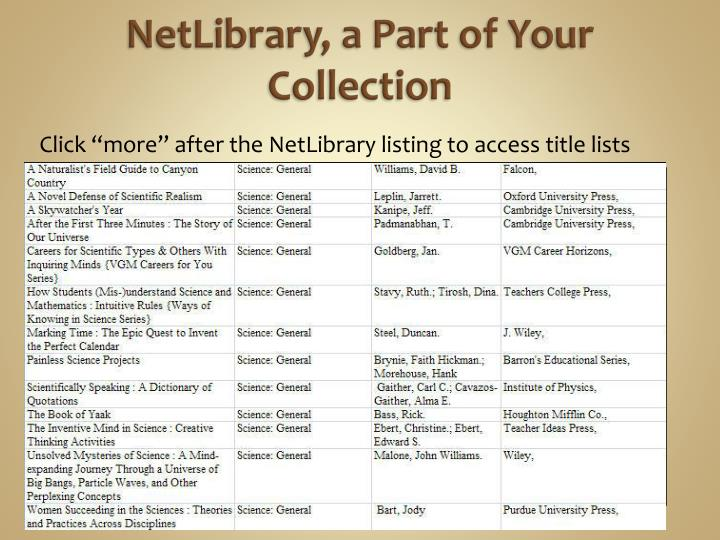 NetLibrary
