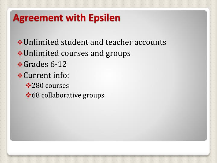 Unlimited student and teacher accounts