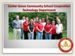 center grove community school corporation technology department