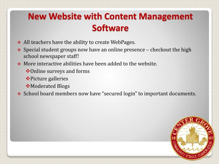 All teachers have the ability to create WebPages.