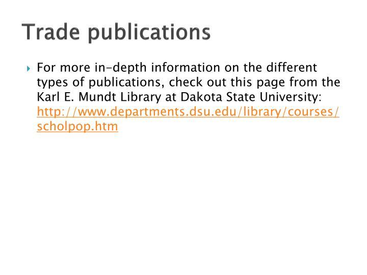 Trade publications