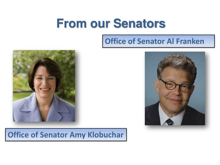 From our Senators