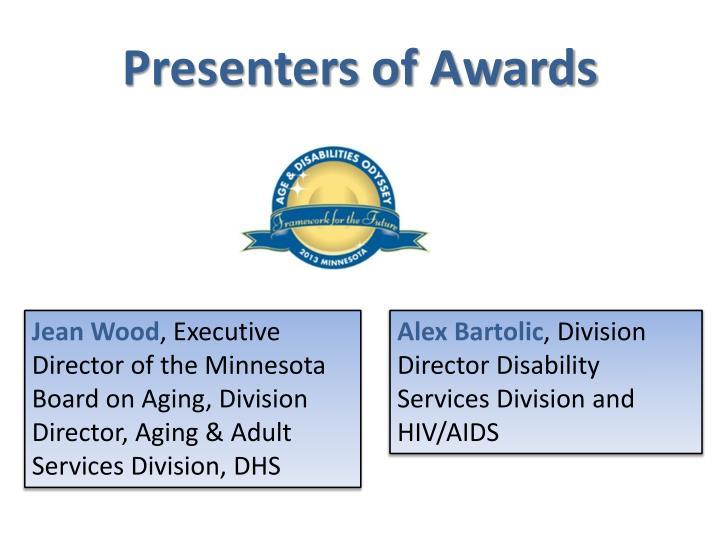 Presenters of Awards