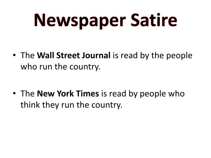 Newspaper Satire