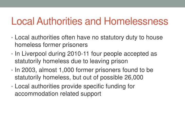 Local authorities and homelessness