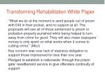 transforming rehabilitation white paper