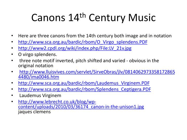 Canons 14