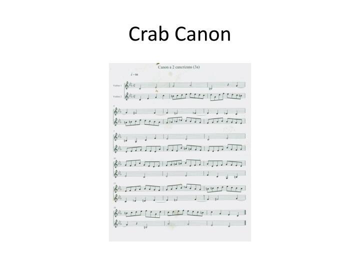 Crab Canon