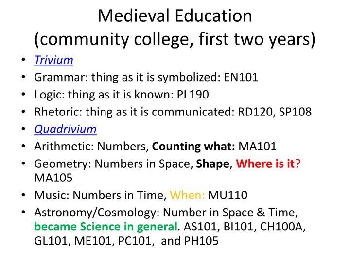 Medieval Education