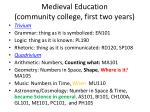 medieval education community college first two years