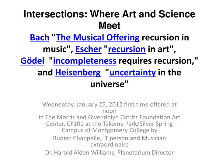 Intersections: Where Art and Science Meet