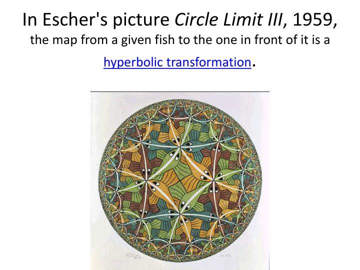In Escher's picture
