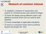 network of common interest
