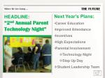 headline 2 nd annual parent technology night