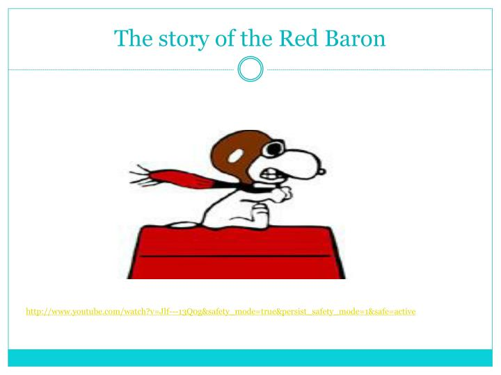 The story of the Red Baron