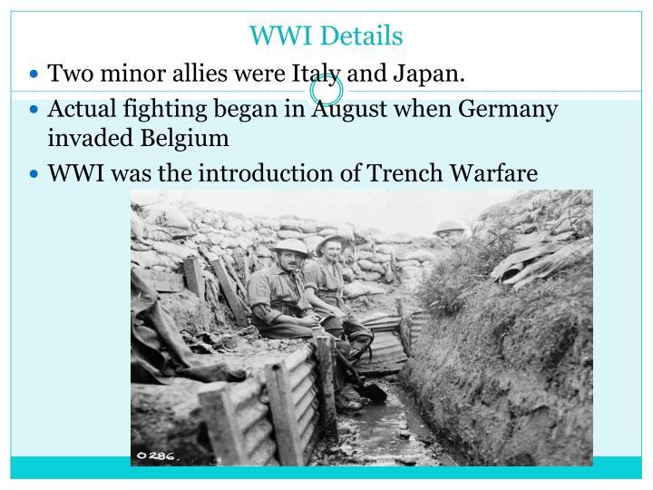 WWI Details