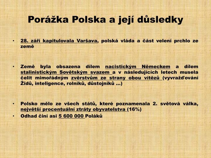 Porážka Polska a její důsledky