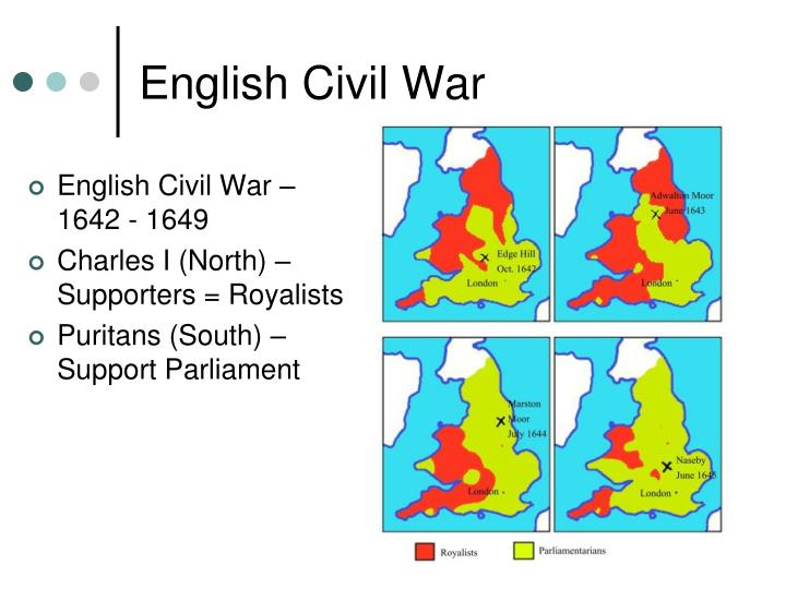 English Civil War – 1642 - 1649