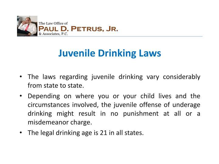 Juvenile Drinking Laws