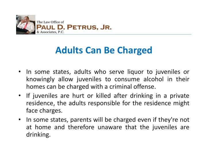 Adults Can Be Charged