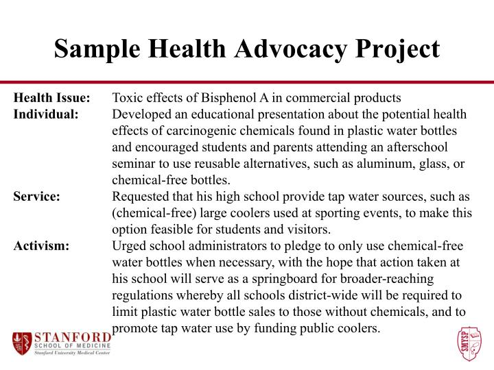 Sample Health Advocacy Project