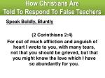 how christians are told to respond to false teachers2