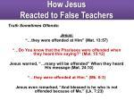 how jesus reacted to false teachers