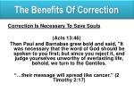 the benefits of correction2